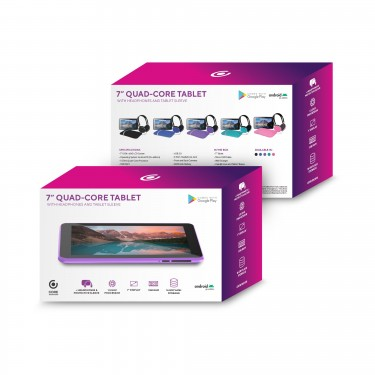 Quad-Core Tablet With Headphones + Tablet Sleeve