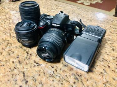 Nikon D5100 18-55mm, 55-200mm And 50mm F1.8 Lenes