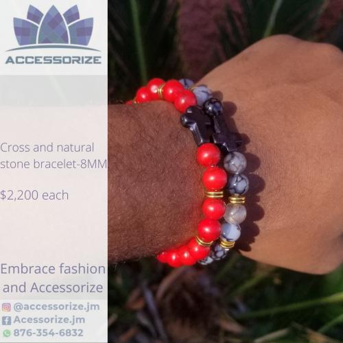 Cross-howlite Bracelet