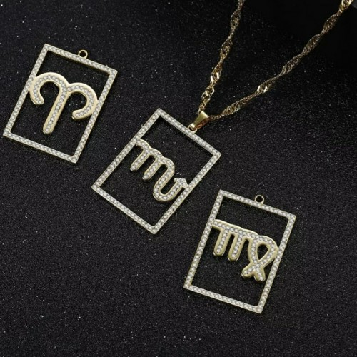 Customized Zodiac Constellation Pendant Necklace