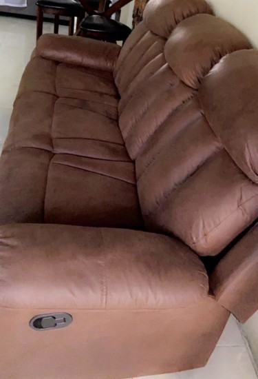 3 Seater Leather Recliner Couch