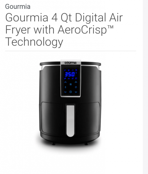 Air Fryer With Crisp Technology