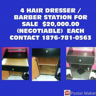 Barber & Hairdresser Stations/booth