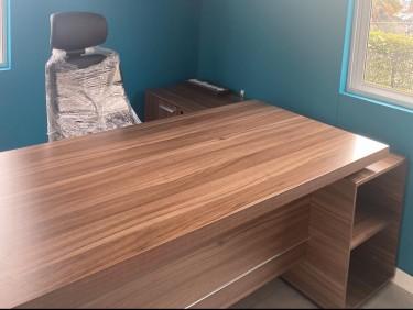 Office Desk & Ergonomic Chair- Like New