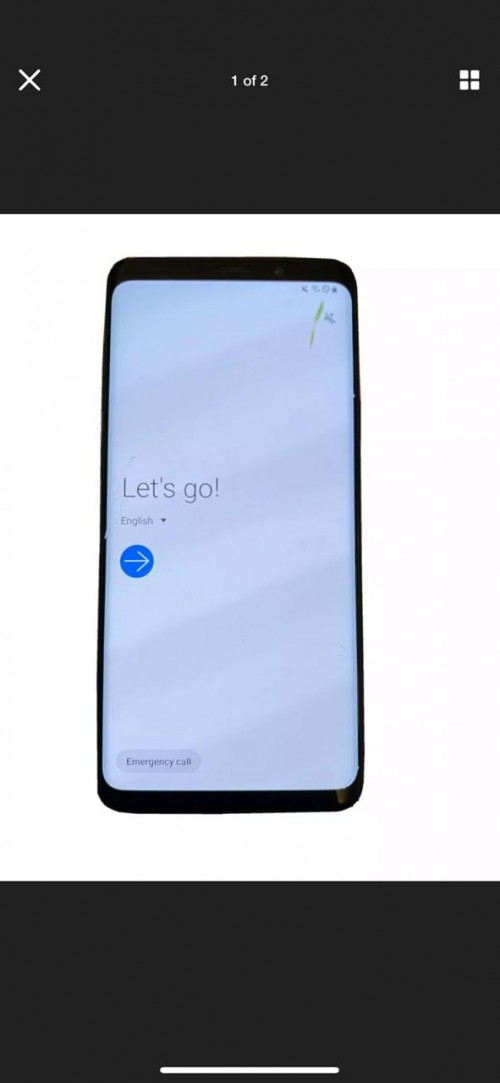 S9plus Small Smudge On The Screen Slight Scratches