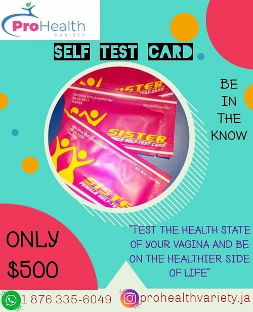 Yoni Self Test Card