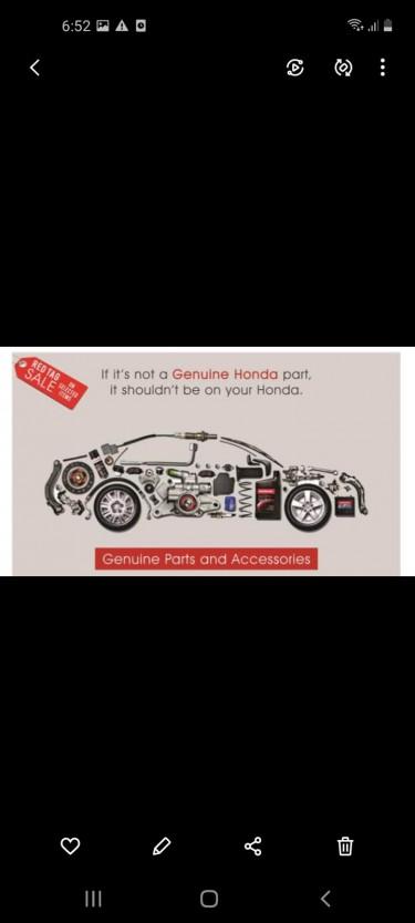 Honda OEM Parts..Genuine Only