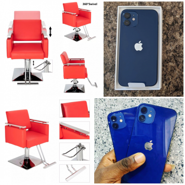 Iphone 12 & Barber/hair Salon Adjustable Chairs
