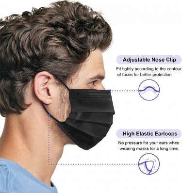 Disposable Face Masks, Pack Of 50
