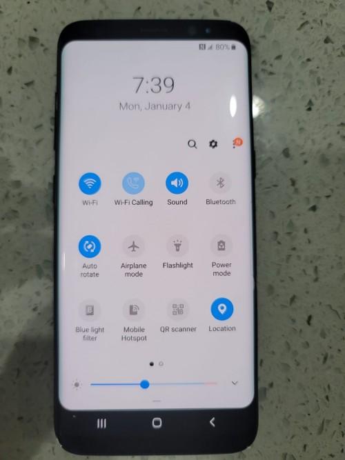 Samsung S8 THE BACK CRACK
