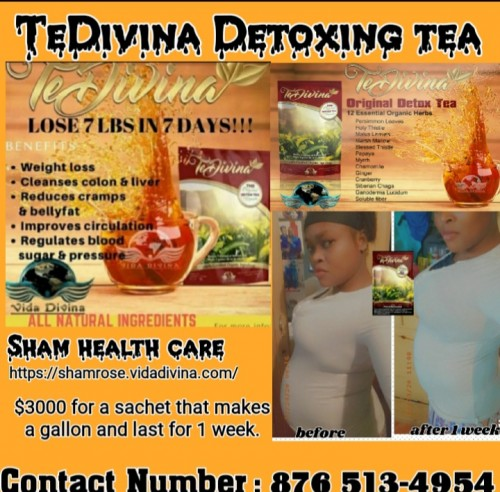 Tedivina Detoxing Tea And Supplement.