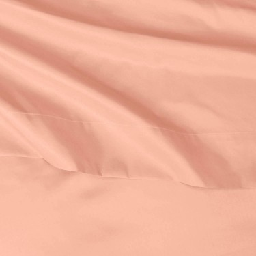Queen Sheet Set With Pockets (Bright Salmon)