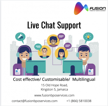 Live Chat Support In Jamaica - Fusion BPO Services