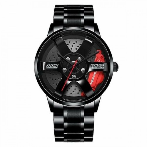 Rim Style Stainless Steel Watch