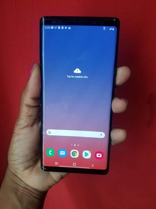 Note 9 128 Crack At The Side