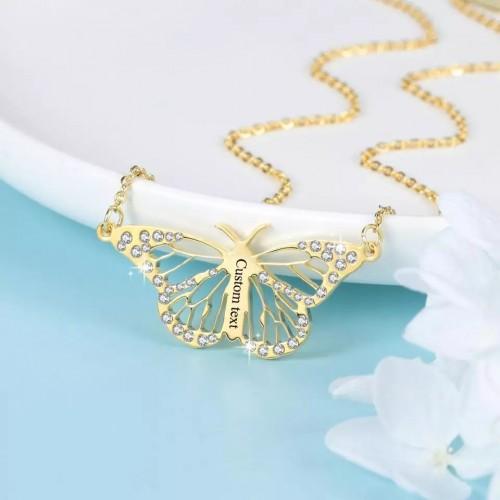 Butterfly Shape Custom Necklace