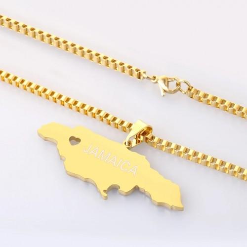 Jamaica Shaped Custom Necklace