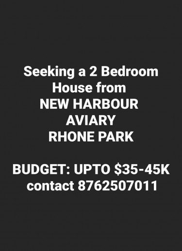 Lookin For A 2 Bedroom In Old Harbour, Open To Alt