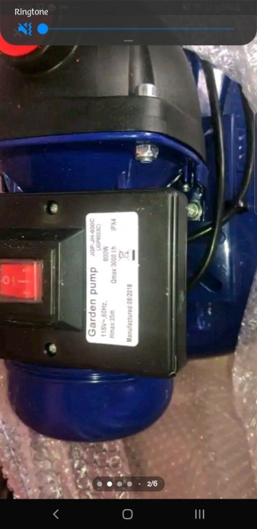 Foster 3 /4hp Water Pump With Pressure Tank