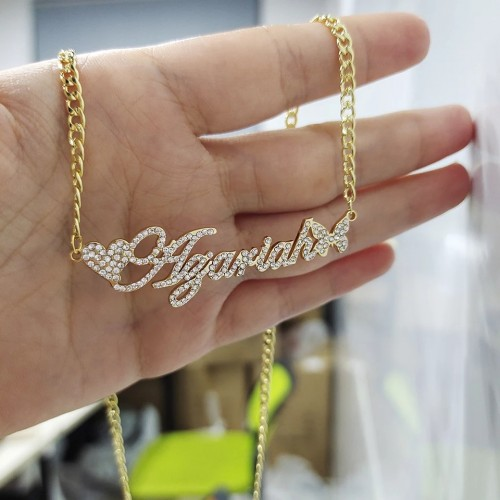Stainless Steel Custom Name Choker Necklace