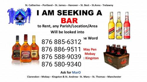 Seeking Bar To RENT...