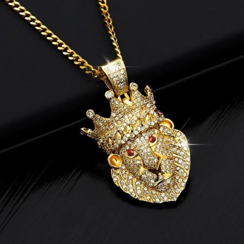 Lion Shaped Pendant Necklace