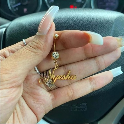 Stainless Steel Personalized Belly Ring