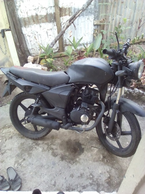 Carshed Motorbike With Brand New Almet Free