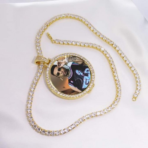 Iced Out Photo Pendant Necklace