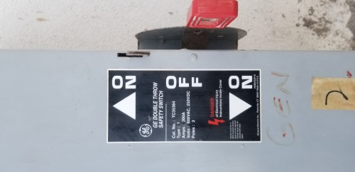200Amps 3phase Manual Transferswitch For Generator