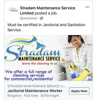 Janitorial And Maintenance Personel