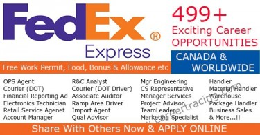 Available Job In Fedex Express Company