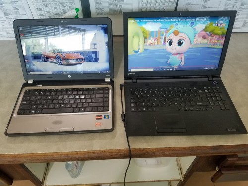 Hp And Toshiba  Laptop For Sale In  Good Condition