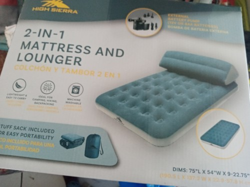 2 In 1 Mattress And Lounger