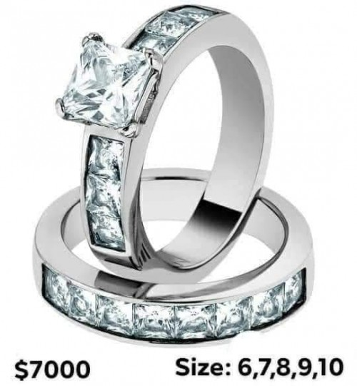 STAINLESS STEEL WEDDING/ENGAGEMENT RING