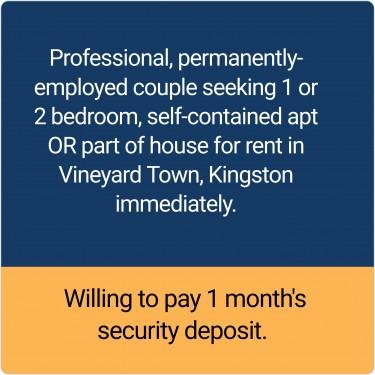Seeking 1 Or 2 Bedroom In Vineyard Town