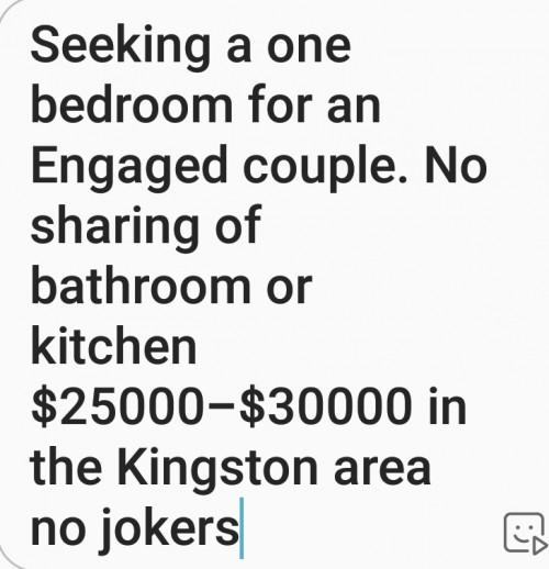 Seeking 1 Bedroom