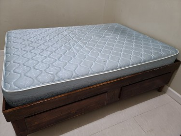 Double Bed Base + Mattress