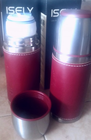 Stainless Steel Leather Warpped Coffee Bottles
