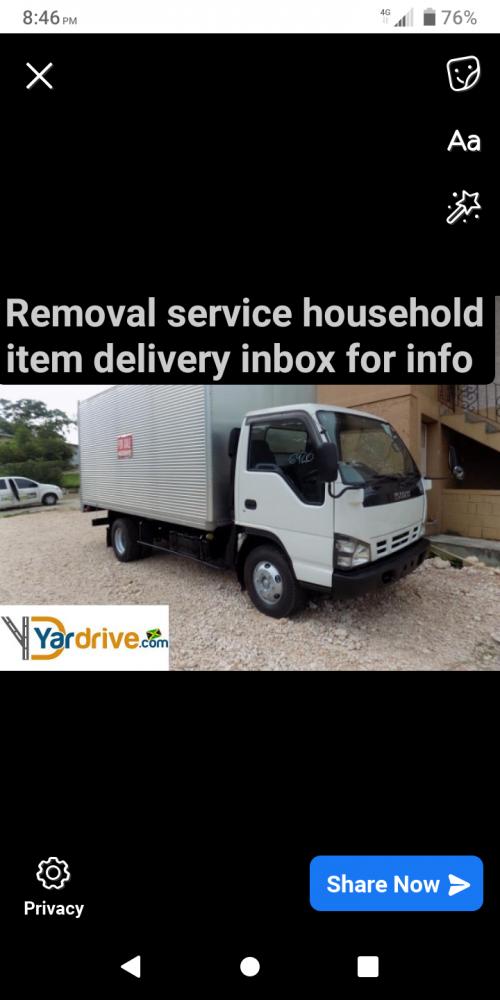 Removal Truck Box Body Truck Cheep 7k Up 10k