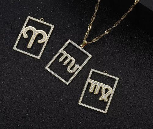 Zodiac Sign Pendant Necklace