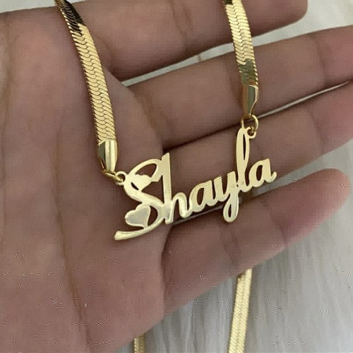 Snake Chain Customized Name Necklace
