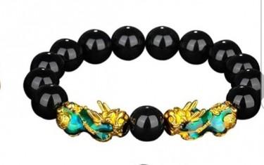 Original Feng Shui Black Obsidian Lucky Bracelet
