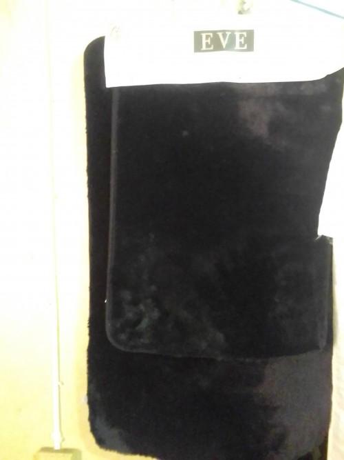 2 Pc Fur Bathroom Mat