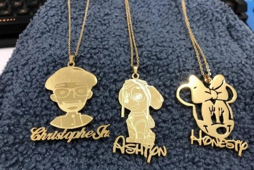 Customize Any Picture Plus Name On A Necklace
