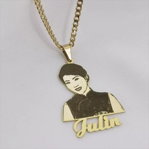 Let's Put Your Picture And Name On A Necklace
