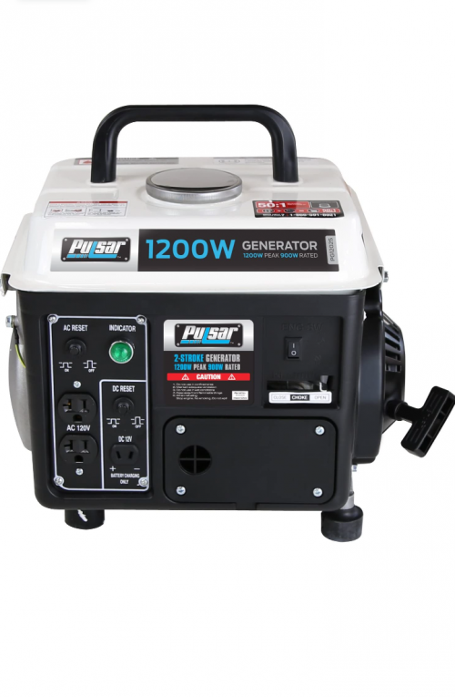Pulsar 1,200W Carrying Handle, PG1202S Gas-Powered