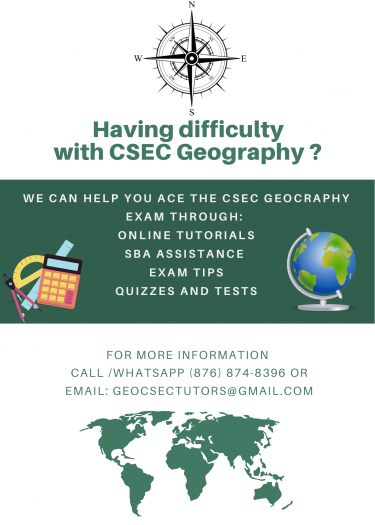 Online Tutoring In CSEC Geography