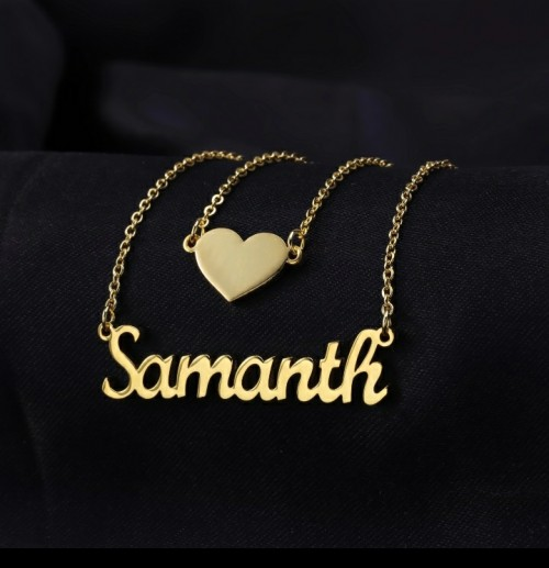 Heart Layer Customized Name Necklace