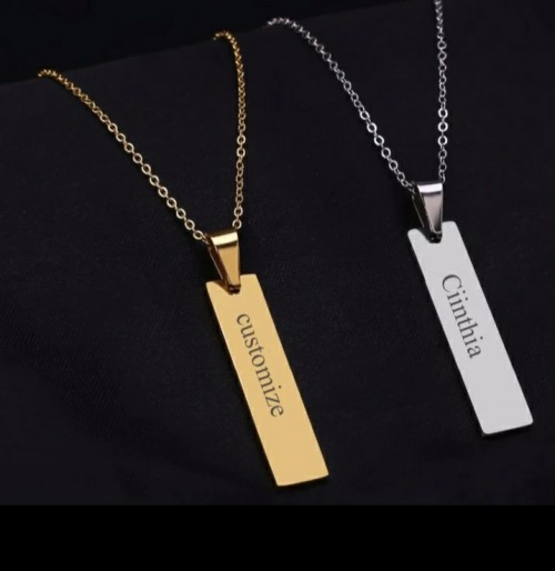 Bar Shaped Custom Name Necklace